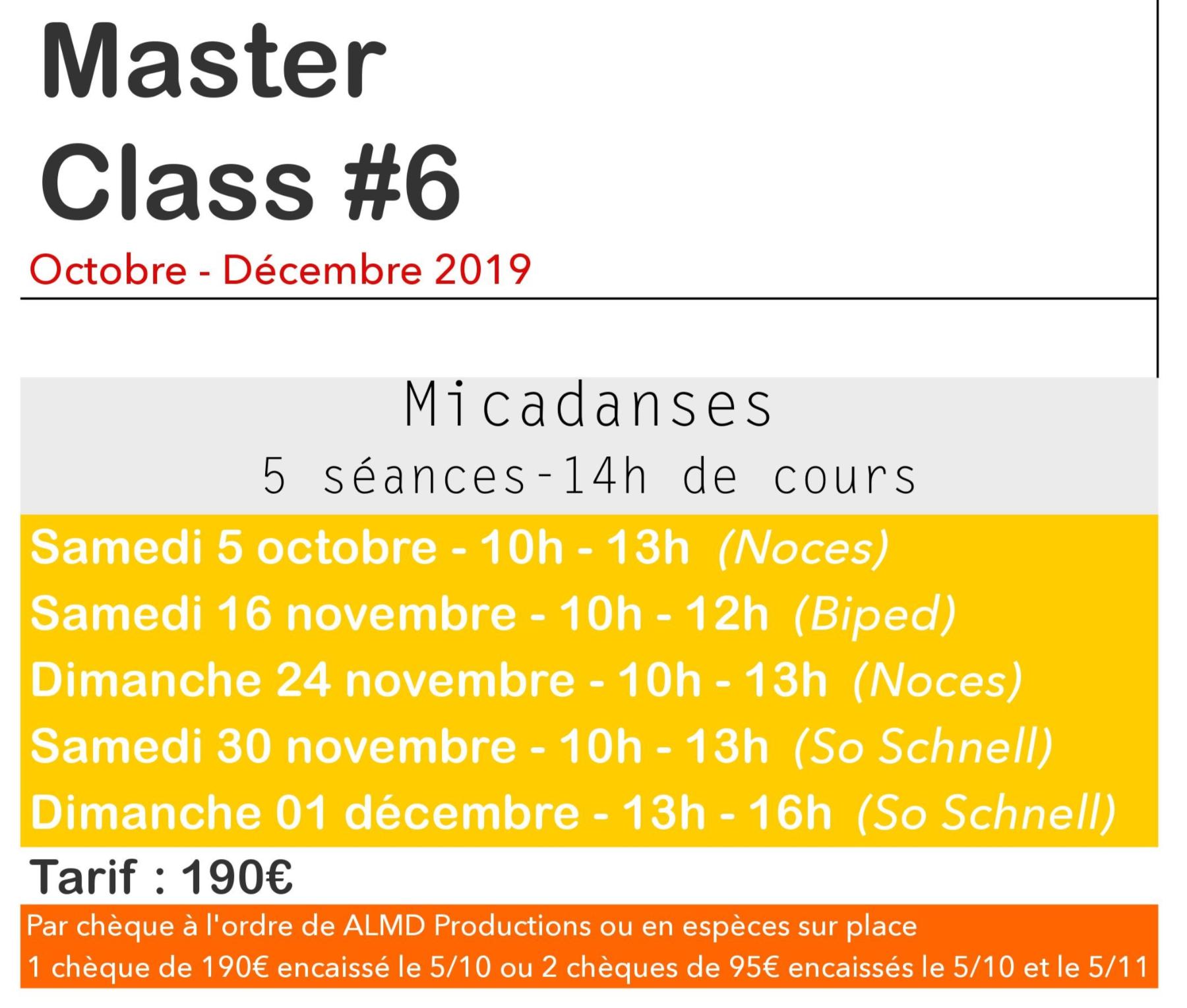 Inscription au Master Class de Samba